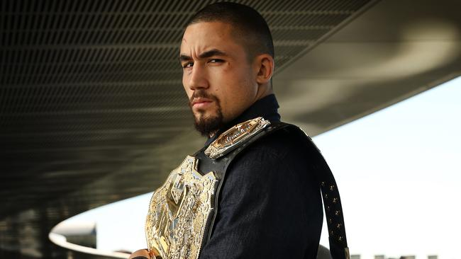 Australia's first ever UFC champion Robert Whittaker.