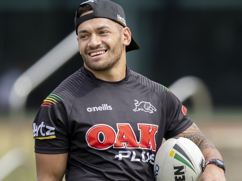 FOR SUNDAY TELE FIRST USE. thanks Caption:   Penrith Panthers' new recruit Api Koroisau. Credit Penrith Panthers Supplied 28/11/19