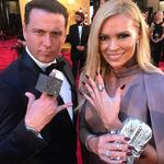 """Karl Stefanovic and Sonia Kruger ... """"Love seeing all the bling on the #TVWeekLogies red carpet!"""" Picture: Instagram"""