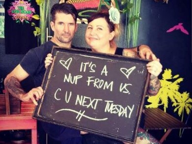 Ben and Naomi, owners of the Low Road Cafe in Windsor. Picture: Low Road Cafe/Instagram