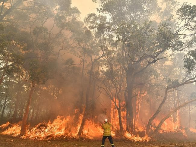 Six lives have already been lost this NSW bushfire season. Picture: Saeed Khan/AFP