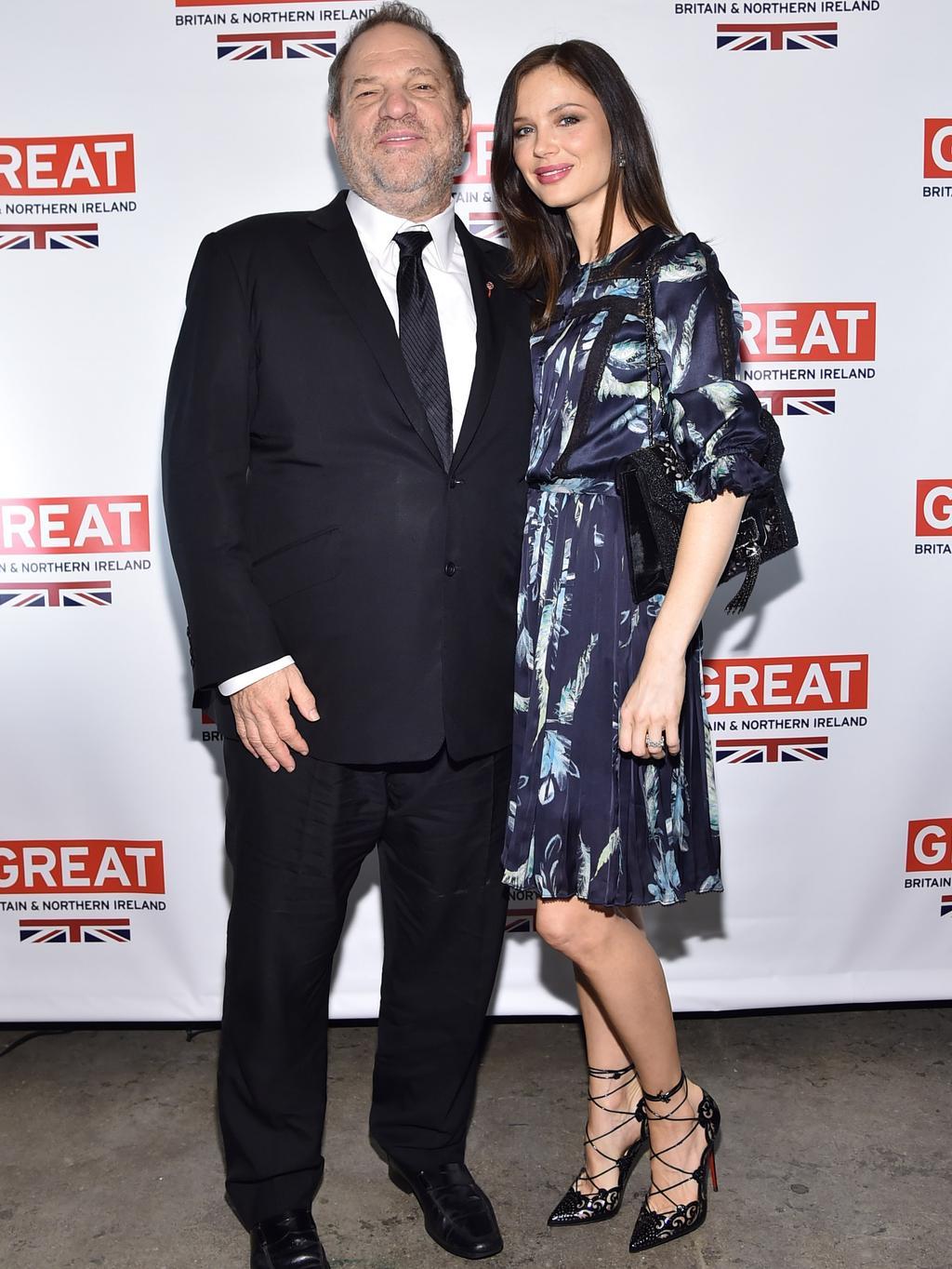 78442d1581 Marchesa designer Georgina Chapman with movie mogul husband Harvey  Weinstein. Picture: Mike Coppola/