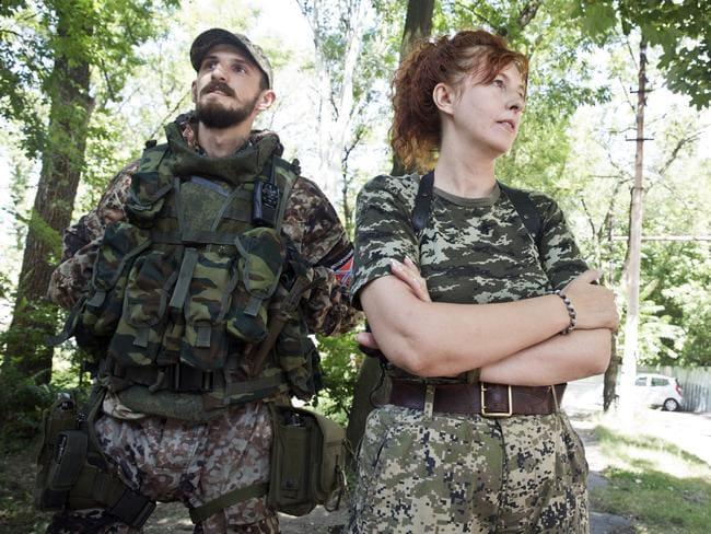 No soccer mum ... Oxana Grinyova with her son Stanislav. Picture: Ella Pellegrini