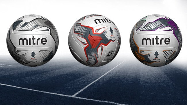 The three options for the new FFA Cup ball, with the middle ball winning the vote.