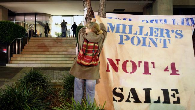 A protest was held out the front of the McGrath Estate Agents offices in Edgecliff last week.
