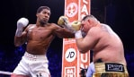 DIRIYAH, SAUDI ARABIA - DECEMBER 07: Anthony Joshua punches Andy Ruiz Jr during the IBF, WBA, WBO & IBO World Heavyweight Title Fight between Andy Ruiz Jr and Anthony Joshua during the Matchroom Boxing 'Clash on the Dunes' show at the Diriyah Season on December 07, 2019 in Diriyah, Saudi Arabia (Photo by Richard Heathcote/Getty Images)