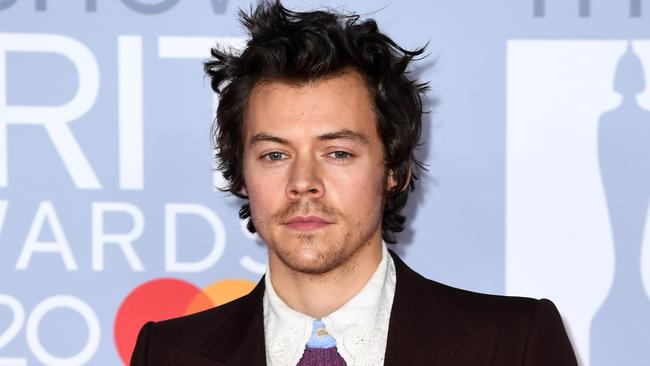 Harry Styles arriving at the 2020 Brit Awards on Wednesday. Picture: Gareth Cattermole/Getty Images