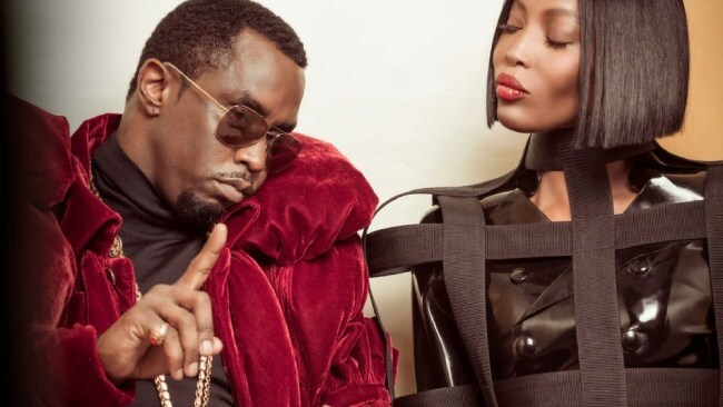 Sean 'Diddy' Combs and Naomi Campbell. Photo: Tim Walker/Pirelli