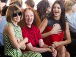 Anna Wintour, Grace Coddington and Kendall Jenner attend the Calvin Klein Spring/Summer 2016 show during New York Fashion Week. Picture: AP