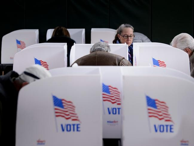 Both parties have been on a major offensive to get Americans to the polling booth. Picture: AFP