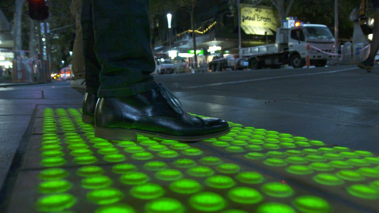 Flashing Ground Lights Target Melbourne S Phone Happy
