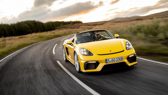 Convertible fans save nearly $10,000 with the Boxster Spyder.