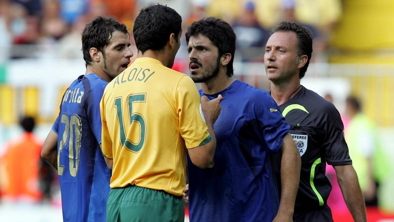 Even John Aloisi was on the wrong end of Gattuso's fiery temper.