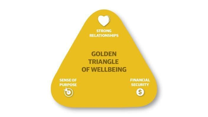 Golden triangle of wellbeing