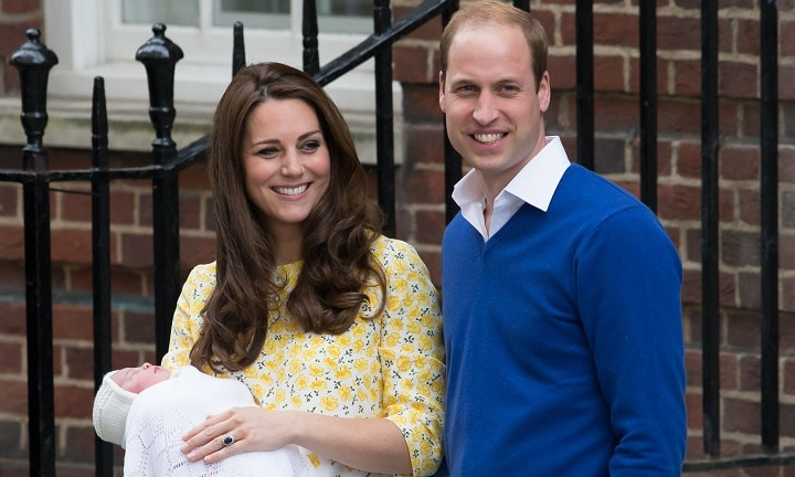 Kate looking picture-perfect mere hours after giving birth to Princess Charlotte. Photo: Daniel Leal-Olivas/PA Wire