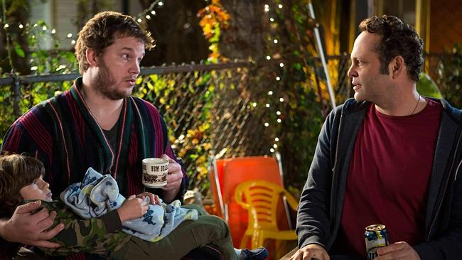 Pratt, with Vince Vaughn in Delivery Man
