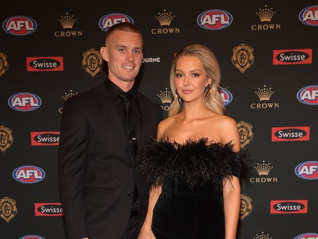 Dayne Beams and his wife Kelly. (Photo by Quinn Rooney/Getty Images)