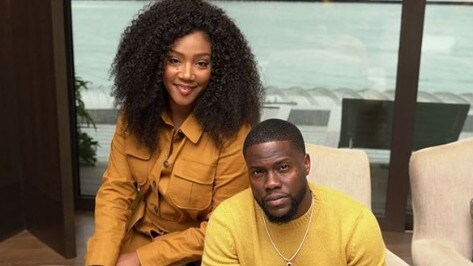 Kevin Hart and Tiffany Haddish on their press tour for The Secret Life of Pets 2.