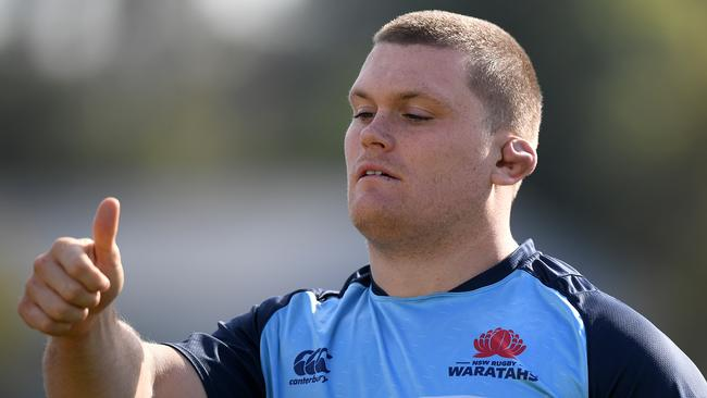 Tom Robertson of the Waratahs takes part in a training session.