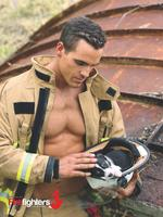 The Australian Firefighter's Calendar plays the heart strings (cue Donny Osmond's Puppy Love) with this tender pic of a sleeping border collie pup curled up in a firefighter's helmet. What's not to love?