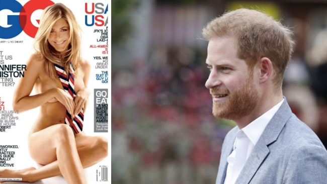 Prince Harry was once 'obsessed' with Jennifer Aniston, according to reports. Source: (L) Supplied, (R) Getty Images