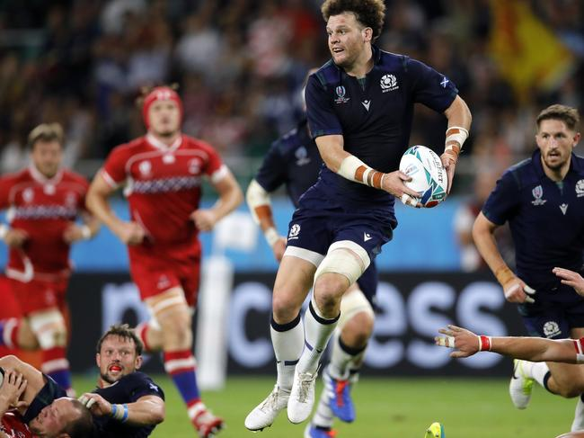 Scotland's Duncan Taylor in action against Russia in the Rugby World Cup. Picture: AP
