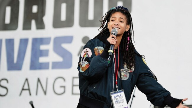 Willow Smith was only nine when Leiomy first met and worked with her. Image: Getty