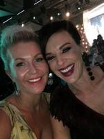 """Chezzi Denyer and Natarsha Belling ... """"With my delightful and gorgeous friend @natarshabelling #tvweeklogies"""" Picture: Instagram"""