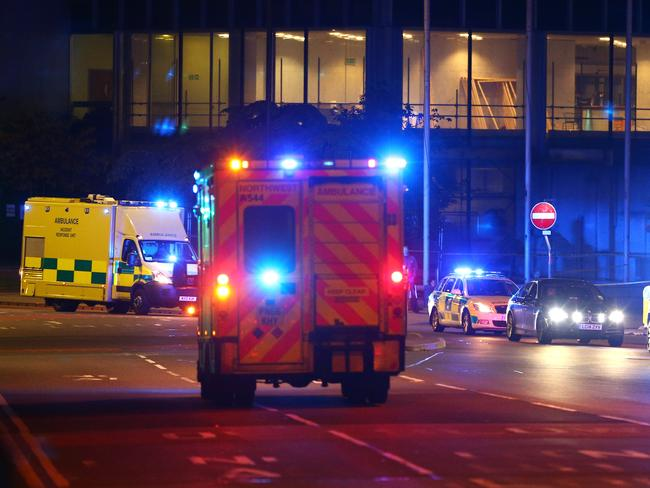 Emergency services arrive close to the Manchester Arena. Picture: Getty