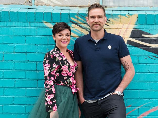 The new 2Day FM Breakfast team: Comedy duo, Em Rusciano and Harley Breen who are replacing Rove McManus and Sam Frost.