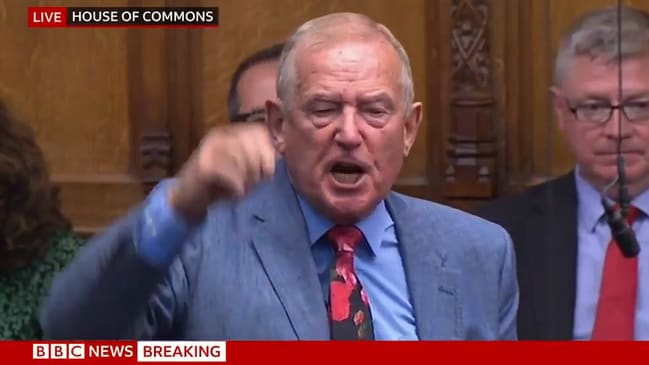 UK politician's furious attack on the government