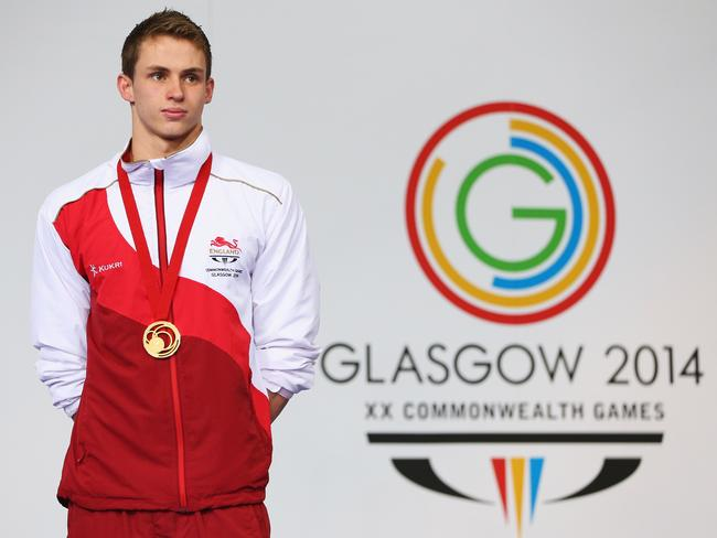 English gold medallist Benjamin Proud, who won the 50m freestyle.