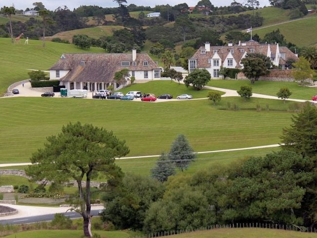 Sprawling New Zealand mansion belonging to Megaupload.com founder Kim Dotcom. Picture: AAP