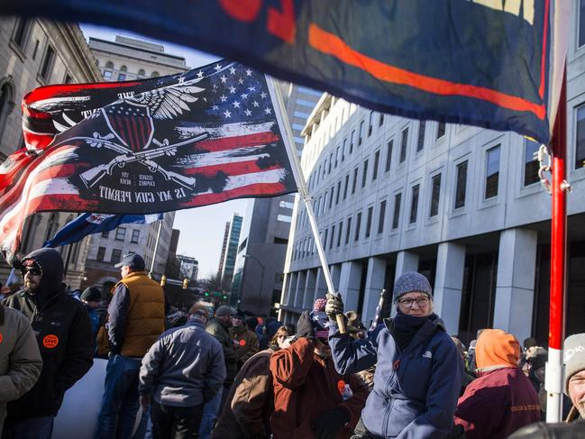 Gun rights advocates attend a rally and show their support for gun rights. Picture: Zach Gibson/Getty Images/AFP