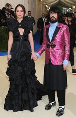 "Dakota Johnson and Alessandro Michele attend the ""Rei Kawakubo/Comme des Garcons: Art Of The In-Between"" Costume Institute Gala at Metropolitan Museum of Art on May 1, 2017 in New York City. Picture: Getty"