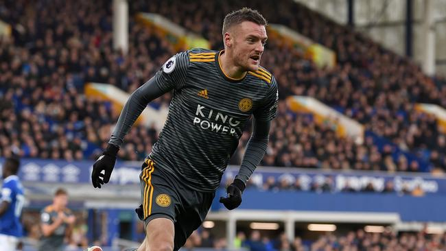 Leicester striker Jamie Vardy has been in good form for the Foxes. Picture: Paul Ellis/AFP