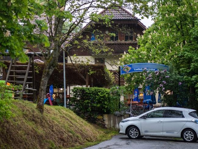 The Bavarian hotel where three people were found with crossbow bolts in their bodies. Picture: AFP
