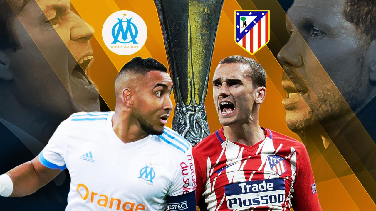 Marseille and Atletico Madrid do battle in the Europa League final