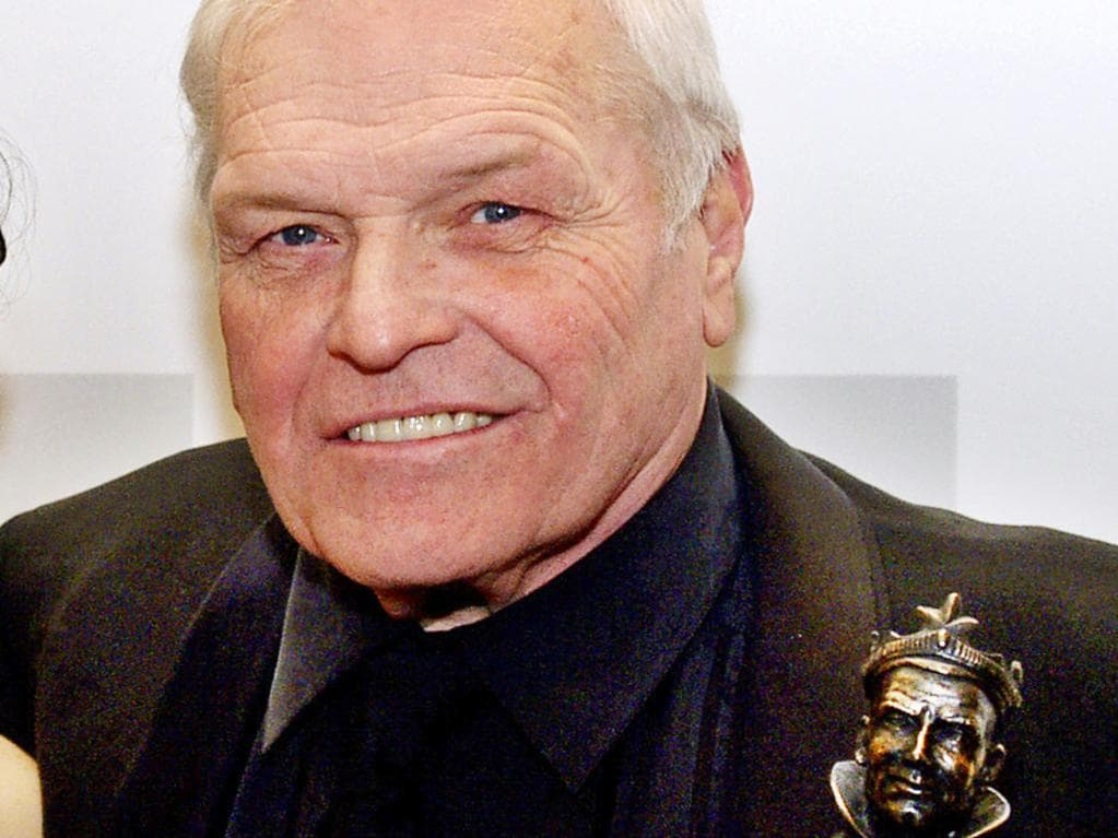 Brian Dennehy with his best actor Olivier Award for his role in Death of a Salesman. Picture: AP
