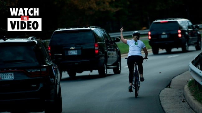 Cyclist who flipped off Trump wins local election