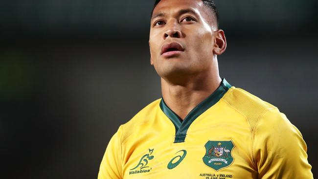 Folau won't be wearing that jersey again. Picture: Getty