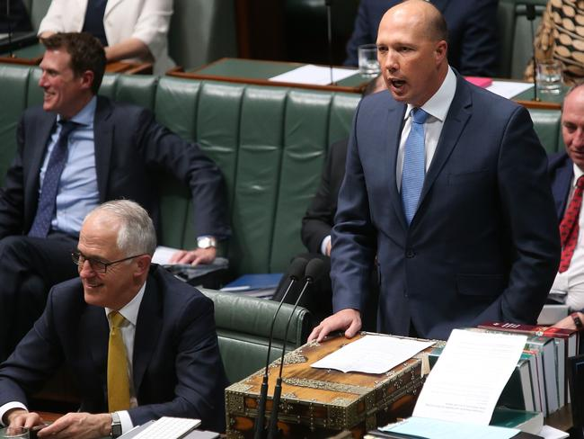 Immigration Minister Peter Dutton believes the same-sex marriage yes campaign will win the postal vote. Picture: Kym Smith
