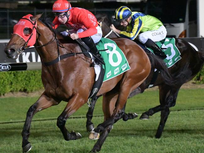 Tommy Berry gets another opportunity to pilot Poetic Charmer to victory.