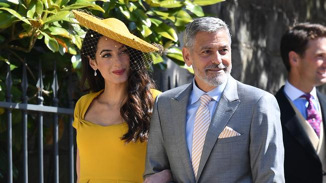 Actor George Clooney took both Meghan Markle and Kate Middleton for a spin around the dancefloor. Picture: James Whatling / MEGA