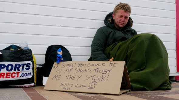 Living rough: Jon Haynes was homeless for 18 months. Picture: Triangle News
