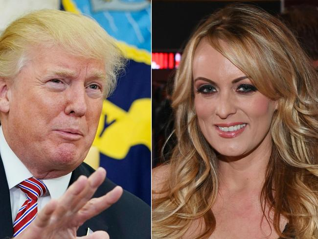 US President Donald Trump and porn star Stormy Daniels. Picture: AFP