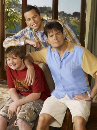 Cryer (top) in Two and a Half Men.