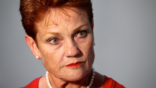 One Nation leader Pauline Hanson during a press conference at Perth Airport on Sunday, Mar. 05, 2017. (AAP Image/Richard Wainwright) NO ARCHIVING