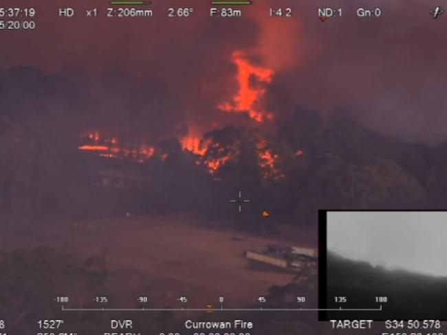 The Currowan Fire burned quickly towards the coast.