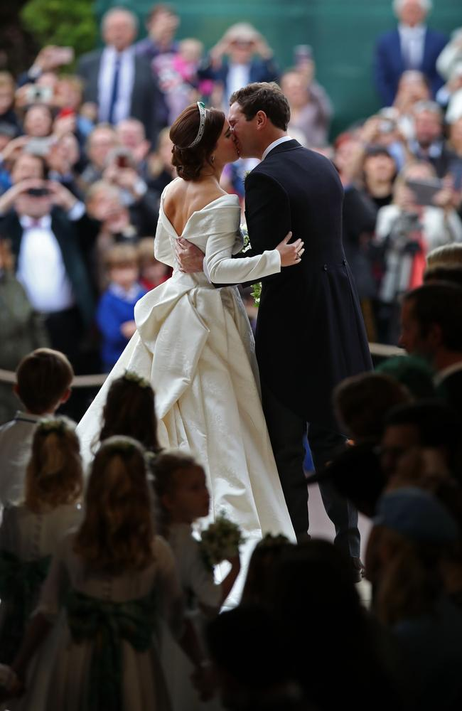 The moment everyone was waiting for. Picture: Yui Mok — WPA Pool/Getty Images